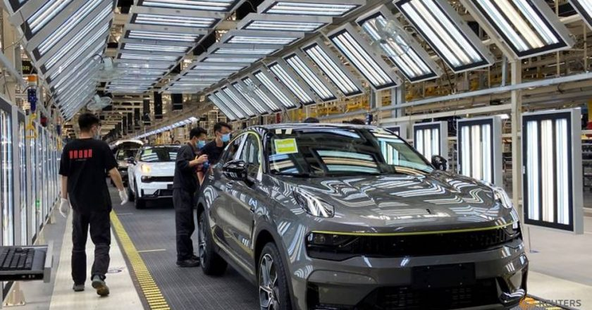 An easing of coronavirus prevention measures helps China's auto plants rev up