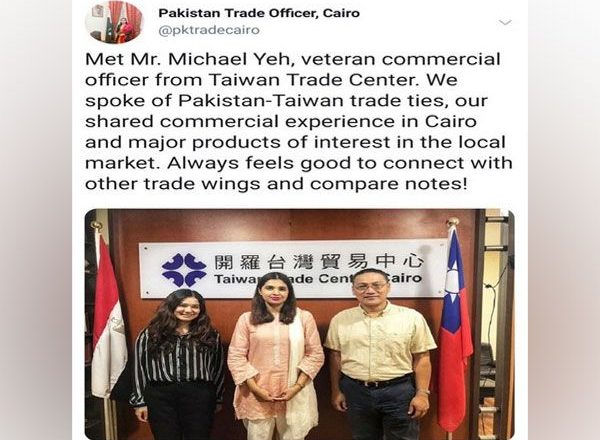 China's ally Pakistan secretly developing trade ties with Taiwan