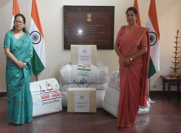 India gifts consignment of disaster relief materials to Nepal