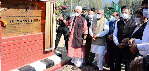 J&K LG inaugurates sports infrastructure worth Rs 49.78 crores