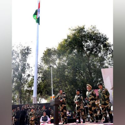 Indian BSF unfurls 131-feet-high tricolour at India-Pak border in Jammu