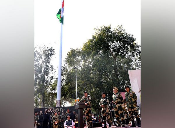 Indian BSF unfurls 131-feet-high tricolour at India-Pak border in Jammu