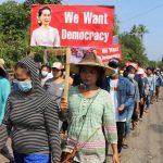 Myanmar protesters clap to denounce junta as region focuses on crisis